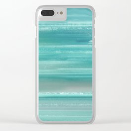 Turquoise Geode Clear iPhone Case