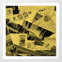 Postcards Art Print