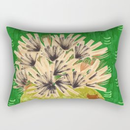 Chartreuse Vase drawing by Amanda Laurel Atkins Rectangular Pillow