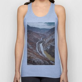 Beautiful picture of the canyon in Serbia. Dramatic sky and mountains Unisex Tank Top