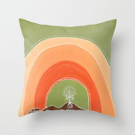 Birthing the Warrior Within Throw Pillow