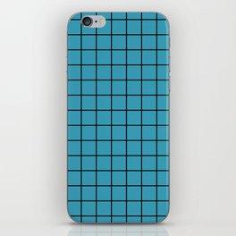 Teal with Black Grid iPhone Skin
