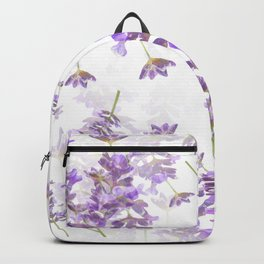Lavender Bouquets On White Background #decor #society6 #buyart Backpack