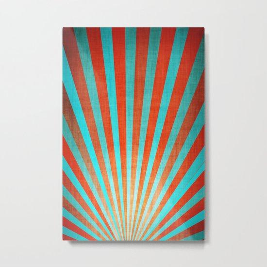Sun Beams Red Metal Print