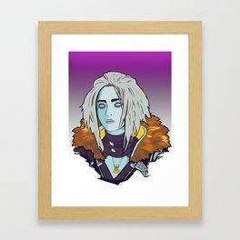 The queen's gaze Framed Art Print