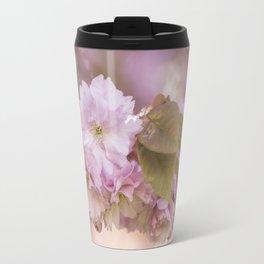 Cherry Blossom LOVE - Sakura - Pink Flower Flowers Travel Mug