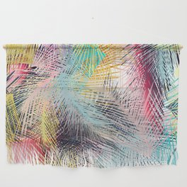 Jungle pampa colorful forest. Tropical fresh forest pattern with palms Wall Hanging