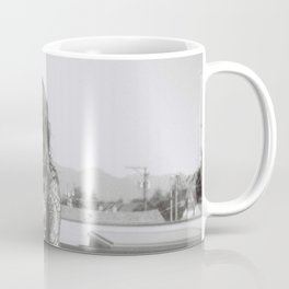 Searching Black and White Holga Print  Mug
