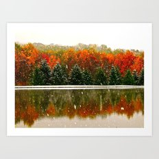 First Snow of the Season Art Print