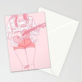 ukulele player Stationery Cards