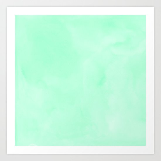 Mint Meringue Watercolor Art Print