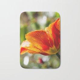 Wet Orange And Yellow Tulip Bath Mat