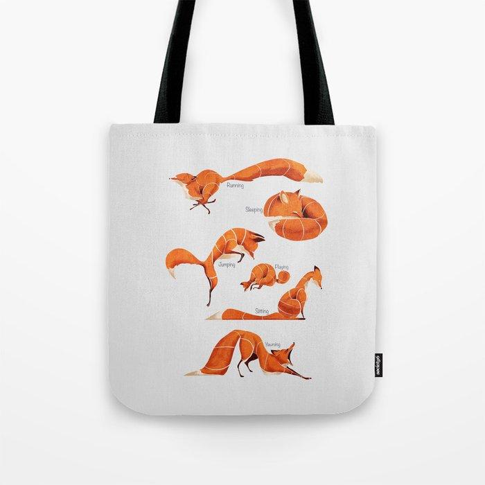 Fox poses Tote Bag