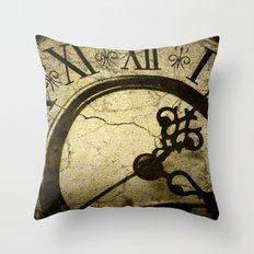 A Crack in Time Throw Pillow