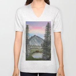 """American Wilderness"" Unisex V-Neck"