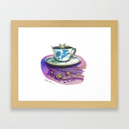 Clock Hater Framed Art Print