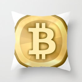 Bitcoin Throw Pillow