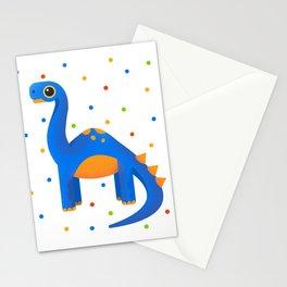 Cute Blue Dinosaur For Adventurous Kids Stationery Cards