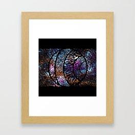 Calligram Nebula 1 Framed Art Print