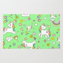 Unicorn Green Pattern Rug