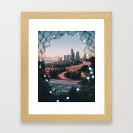 Seattle Cityscape Framed Art Print