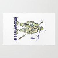 teenage mutant ninja turtles Area & Throw Rugs featuring Donatello, Teenage Mutant Ninja Turtles by Carma Zoe