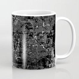 Las Vegas Black Map Coffee Mug