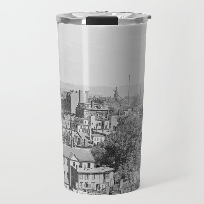 Vintage Photograph of Charlestown Massachusetts  Travel Mug