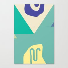 Secret Surf Map 003 — Matthew Korbel-Bowers Canvas Print