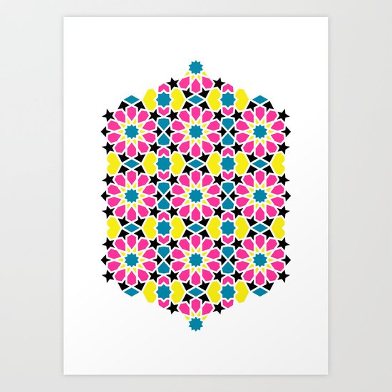 Arabesque CMYK Art Print