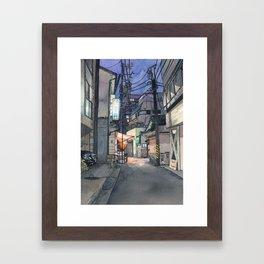 Tokyo at Night #04 Framed Art Print