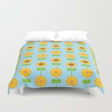 Kawaii Sunflowers Duvet Cover