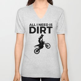 Motocross Dirt Bike Vintage Graphic Design Unisex V-Neck