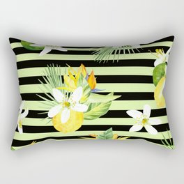 watercolor seamless pattern fresh summer Rectangular Pillow