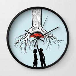 Raining Roots Wall Clock