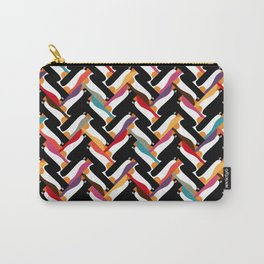 herringbone penguin Carry-All Pouch