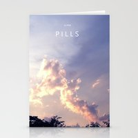 pills Stationery Cards featuring PILLS by SuperPills