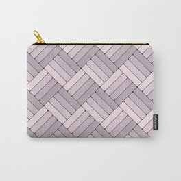 Pattern Play in Pink and Gray Carry-All Pouch