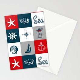 Nautical design 4 Stationery Cards