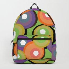 70s Retro Circles - Visionary Green Backpack