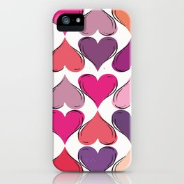 colerfull hearts iPhone Case