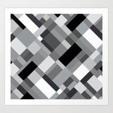 New Map Grey 45 Art Print
