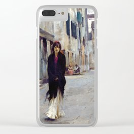 John Singer Sargent Street in Venice Clear iPhone Case