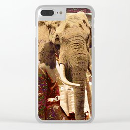 Elephant Man Clear iPhone Case