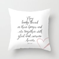 scripture Throw Pillows featuring Scripture by Meredith Washburn
