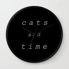 Cats and Time Wall Clock