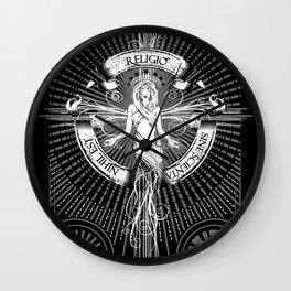 Religio Sine Scienta Nihil Est Wall Clock