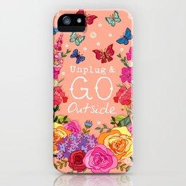Unplug & Go Outside iPhone Case