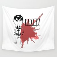 akira Wall Tapestries featuring Kaneda by flydesign