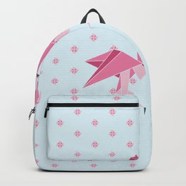Origami Flamingo Backpack